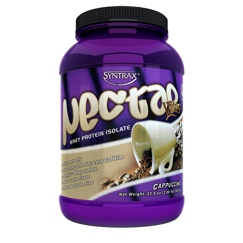 Syntrax Nectar Lattes Whey Protein Isolate 907g. (2 lbs) Cappuccino